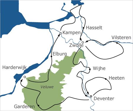 Fietsvakantie Salland en Veluwe